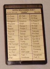 "Wersi Memory Multi Card Rom 1 ""JUMBO"" für CD Orgeln"