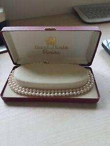 "ROSITA Vintage 50s/60s 12"" Twin String Simulated Pearls Original Box"
