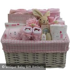 Baby gift basket/hamper 4 piece clothes set/keepsake girl baby shower nappy cake