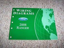 2008 Ford Ranger Electrical Wiring Diagram Manual XL XLT Sport FX4 V6 4Cyl 2.3L