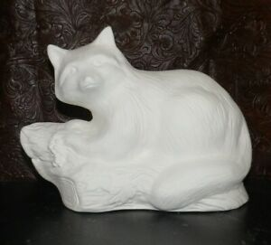 Raccoon on Log Ceramic Bisque Ready to Paint * Paint your own