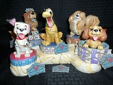 Disney Traditions by Jim Shore complete Canine & display set New
