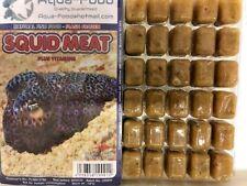 Premium Frozen Fish Food 5 x100g packs-Chop Squid + vitamins-FREE P&P