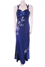 New Navy Blue Pearce Fionda Evening Dress Size 12 Bridesmaid Wedding Gown Prom