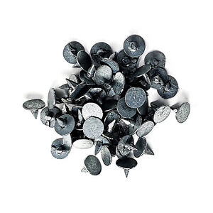 8mm Galvanised Roof Shed Felt Clout Head Nails Pack of 50 Roofing Felt Nails