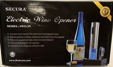 New listing New Secure Electric Wine Opener Stainless Steel Swo-3 Easy Bottle In Box