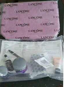 NEW Lancome 7 pc gift set makeup skincare Renergie Genifique Primer eye shadow