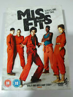 MISFITS COMPLETE SEASONS 1 & 2 - 4 X DVD + EXTRAS ENGLISH - REGION 2 BOX SET