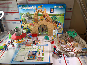 Playmobil 6634 Large City Zoo playset not complete Lion Penguin Park