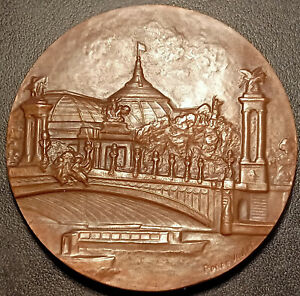 Médaille - ARPHILA PARIS 1975 Grand Palais par Renée Vautier ! expo philatélique