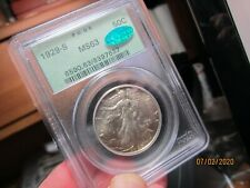 SEMI KEY DATED WALKING LIBERTY HALF  PCGS & CAC 1929-S  MS-63  OGH   LOOKS NICER