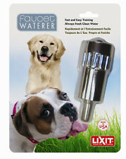 LIXIT FAUCET WATER THIRST QUENCHER DRINKER FOR DOGS EXOTICS PIGS. FREE SHIP USA