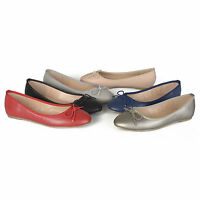 Journee Collection Womens Classic Bow Round Toe Casual Ballet Flats Slip On New
