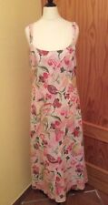 PER UNA.  PINK.    LINEN    SUMMER    SLEEVELESS.   DRESS.  SIZE 12   EX COND