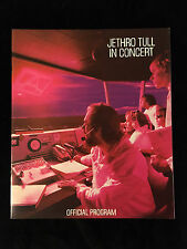 JETHRO TULL 1980 A TOUR Concert Program Book-Near Mint to Mint