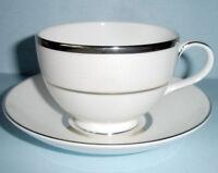 Royal Doulton PLATINUM SILK Tea Cup & Saucer New