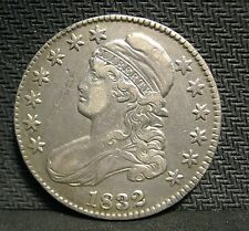 1832 Capped Bust Half - AU Details - Scratch on Obverse