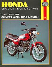 Haynes Manual 0571 - Honda CB125, CD125T, CM125C Twins 77-88 workshop/service