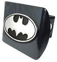 Batman Black Metal Hitch Cover (NEW) Oval Logo Chrome Trailer Cap MVP