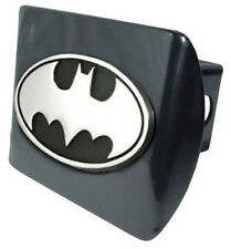 Batman Black Metal Hitch Cover (NEW) Oval Logo Chrome Trailer Cap MVP