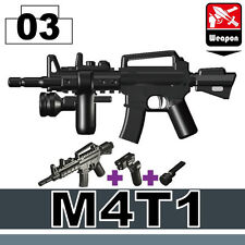 M4T1 (W134) Special Forces Assault Rifle compatible w/toy brick minifigures Army