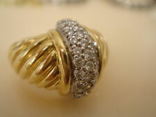 DAVID YURMAN SOLID 18K GOLD LARGE DIAMOND DOME RING
