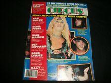 1984 AUG 31 CIRCUS MAGAZINE - VINCE NEIL MOTLEY CRUE - NICE MUSIC COVER - A445