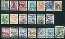 1925-1927 Austria Stamps. Two Complete Sets Used. Sc#303-323 (A52-A55)