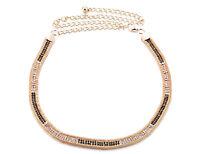 Womens Ladies Gold Rhinestone Belt Waist Chain Diamante Diamonds Buckle New 560
