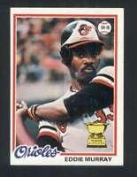 1978 Topps #36 Eddie Murray NM/NM+ RC Rookie Orioles 121172