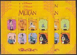 Z455. 5x Gambia - MNH - Animation - Disney - Mulan