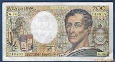 200 Francs Montesquieu Type 1981 - 1992 G.154 Qualité TTB