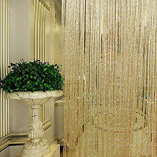 String Door Curtain Beads Window Panel Room Divider Tassel Crystal Fringe Beaded