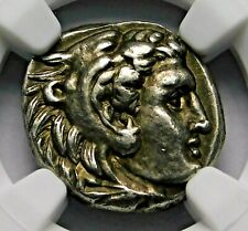NGC CH XF 4/5-5/5 Alexander the Great Stunning Lifetime Drachm Greek Silver Coin