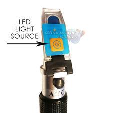 ITC AQUATICS REFRACTOMETER WITH LED SALT WATER TESTING MARINE REEF AQUARIUM TANK