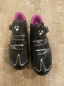 Bontrager DLX Road Women's Cycling Shoe 7.5 Black/pink  VERY CLEAN GENTLY USED