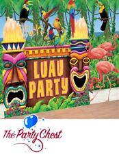 GIANT HAWAIIAN LUAU DECORATING KIT Beach Party BBQ Scene Setter Decorations 9693