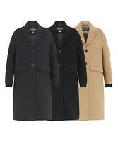 De La Creme - Women's Wool & Cashmere Blend Ladies Winter Warm Knee Length Coat