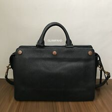 Pre Owned Authentic Mulberry Black Leather 2 way Bag