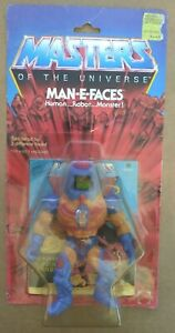 Vintage 1982 Masters Of The Universe Man-E-Faces 12 Back Carded Sealed
