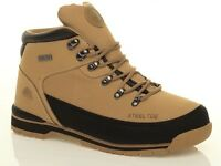 MENS GROUNDWORK LEATHER STEEL TOE CAP ANKLE WORK SAFETY BOOTS SHOES TRAINERS SZ