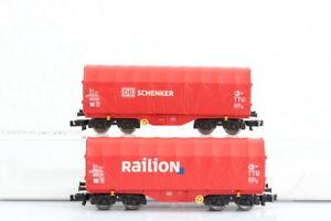 N FLEISCHMANN  837904 Planenwagen Schenker Railon DB GÜTERWAGEN boxcar OVP..J55