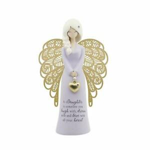 YOU'RE AN ANGEL FIGURINE 'A DAUGHTER IS SOMEONE YOU LAUGH WITH'  AN020