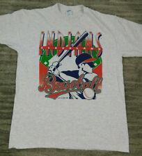 Vtg 1996 Cleveland Indians MLB Baseball T-shirt Lou Brock Velva Sheen sz Large L