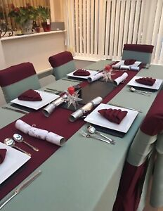 Table Linen Set - Rectangle Tablecloth,  6 x Napkins & Table Runner