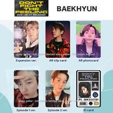 EXO BAEKHYUN Don't fight the feeling Official Photo card Photocard PC