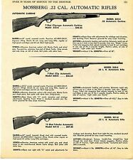 1969 Print Ad of Mossberg Model 352-K 350-K 351-K .22 Automatic Rifle Carbine