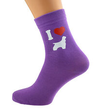 I Love American Cocker Spaniels Ladies Purple Dog Socks UK Size 4-8 X6N138
