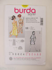 Burda Patterns 7113 Dress - Jacket - Cape - Szs 36-44 NEW!