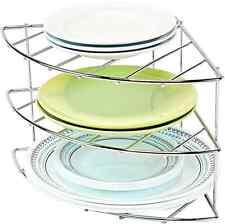 Corner Shelf Rack Tier Cabinet Organizer Holder Dish Pan Storage Kitchen Counter